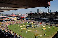 African National Congress (ANC) election rally held at the Ellis Park Stadium in Johannesburg...