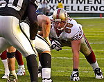 San Francisco 49ers guard Eric Heitmann (66) on Sunday, November 3, 2002, in Oakland, California. The 49ers defeated the Raiders 23-20 in an overtime game.