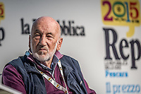 Pescara, Gianni Berengo Gardin - Photographer -during the RepIdee Conference, on October 17, 2015. Photo: Adamo Di Loreto/buenaVista*photo