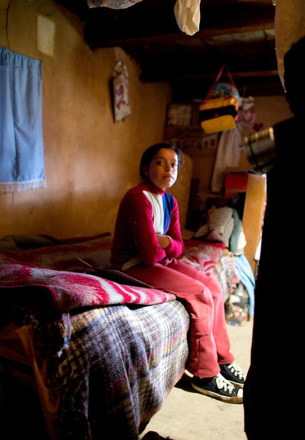 Architect Fernando Romero of FREE visits humble homes near Atlacomulco Estado de Mexico to decide where he can build a low cost house to improve living conditions for families in extreme poverty.  Estado de Mexico