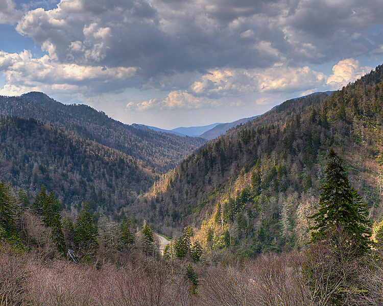 The View from the Morton Overlook in the Great Smoky Mountains National Park. Three exposure HDR.