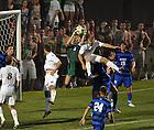 Aug. 25, 2012; Men's Soccer vs Duke; Grant Van De Casteele (20)..Photo by Matt Cashore/University of Notre Dame
