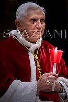 'World Day of the Sick' Mary of Lourdes, Benedict XVI the in St. Peter's Basilica.February 11,2007