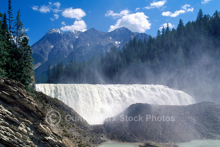 Yoho National Park, Canadian Rockies, BC, British Columbia, Canada - Wapta Falls, Kicking Horse River, Summer