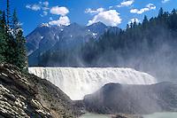 Yoho National Park, Canadian Rockies, BC, British Columbia, Canada - Wapta Falls, Kicking Horse River, Summer