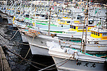Fishing vessels are moored at the port of Katsumoto, Iki Island, Nagasaki Prefecture, Japan on Thursday 02 April 2009.