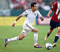 CARSON, CA – July 2, 2011: Chicago Fire midfielder Marco Pappa (16) during the match between Chivas USA and Chicago Fire at the Home Depot Center in Carson, California. Final score Chivas USA 1, Chicago Fire 1.