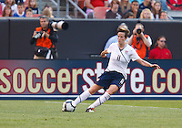 22 MAY 2010:  USA's Megan Rapinoe #11 during the International Friendly soccer match between Germany WNT vs USA WNT at Cleveland Browns Stadium in Cleveland, Ohio. USA defeated Germany 4-0 on May 22, 2010.