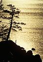 Lake Tahoe Landscape, Lake Tahoe Solo Man