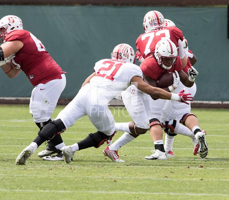 Stanford, CA - April15, 2017:  Curtis Robinson (21) at Cagan Stadium.
