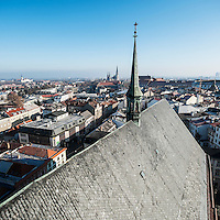 Rooftop view from tower of Church of Saint Maurice, Olomouc, Czech Republic