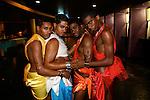 Butch Queen Face walkers, Latex Ball, Manhattan, 2006. Photograph by Gerard H. Gaskin