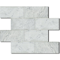 Description: Giovanni Barbieri 3  x 6 in. Lucido Bianco Carrara<br />