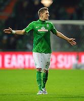 FUSSBALL   1. BUNDESLIGA    SAISON 2012/2013    17. Spieltag   SV Werder Bremen - 1. FC Nuernberg                     16.12.2012 Nils Petersen (SV Werder Bremen) ist nach dem Anpfiff enttaeuscht