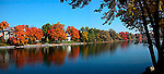 Fall colour on Mississippi River, Lanark County, Ontario