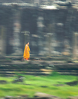 CAMBODIA 2007, MOVEMENT, BUDDHIST MONK,