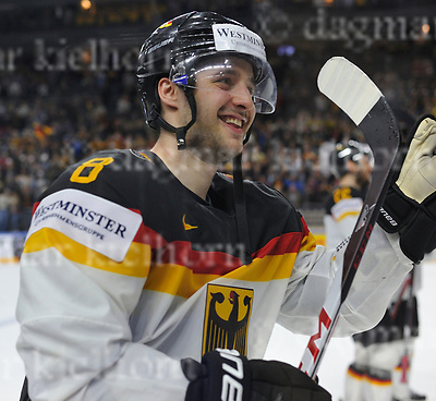 Friday, 5 May, 2017,Lanxess Arena , Cologne/GER<br /> IIHF World Hockey Championship 2017<br /> USA  vs  GER<br /> After a thrilling match Germany wins 2:1,happy scorer Tobias Rieder <br /> Friday, 5 May, 2017,Lanxess Arena , Cologne/GER<br /> IIHF World Hockey Championship 2017<br /> USA  vs  GER