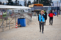 Alessandra Morelli,Senior Operations Coordinator in Greece for United Nations High Commissioner for Refugees the Greek-Macedonian border at the village of Idomeni, Greece, 8 Febraury 2016.<br />