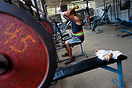 A Cuban man does exercise at a bodybuilding gym in Alamar, a public housing complex in the Eastern Havana, Cuba, 9 February 2011.