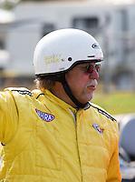 Aug. 18, 2013; Brainerd, MN, USA: A Safety Safari member during the Lucas Oil Nationals at Brainerd International Raceway. Mandatory Credit: Mark J. Rebilas-