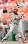 11 June 2006: Jimmy Rollins, shortstop for the Philadelphia Phillies, at bat during a game against the Washington Nationals at RFK Stadium, in Washington, DC. The Nationals shut out the visiting Phillies 6-0 to take the series three games to one...Mandatory Photo Credit: Ed Wolfstein Photo..