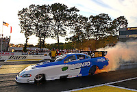 May 31, 2013; Englishtown, NJ, USA: NHRA funny car driver Terry Haddock during qualifying for the Summer Nationals at Raceway Park. Mandatory Credit: Mark J. Rebilas-