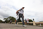 HOWEY IN THE HILLS, FL - MAY 19: Garrett Brickley of Wittenberg University walks a bridge on the 18th hole during the Division III Men's Golf Championship held at the Mission Inn Resort and Club on May 19, 2017 in Howey In The Hills, Florida. (Photo by Cy Cyr/NCAA Photos via Getty Images)