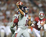 Ole Miss quarterback Barry Brunetti (11) vs. Alabama at Bryant-Denny Stadium in Tuscaloosa, Ala. on Saturday, September 29, 2012.