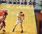 Ole Miss' Maggie McFerrin (14) vs. Alabama in NCAA women's basketball action in Oxford, Miss. on Sunday, January 13, 2013.  Alabama won 83-75.