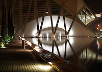 Museum of Sciences Principe Felipe, 40,000 square meters devoted to bringing science and technology closer to the public, City of Arts and Sciences, 2000, Santiago Calatrava, Valencia, Comunidad Valenciana, Spain Picture by Manuel Cohen