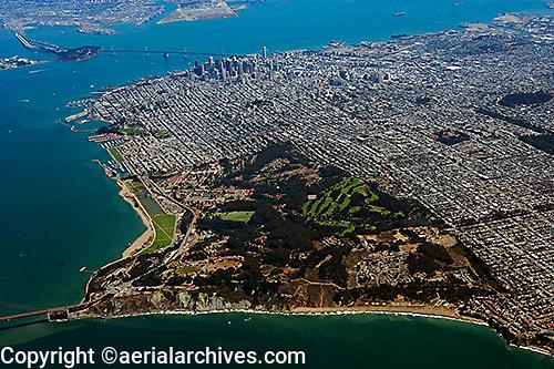 aerial photograph Presidio San Francisco, California