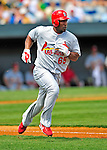 13 March 2009: St. Louis Cardinals' infielder Joe Thurston in action during a Spring Training game against the Baltimore Orioles at Fort Lauderdale Stadium in Fort Lauderdale, Florida. The Cardinals defeated the Orioles 6-5 in the Grapefruit League matchup. Mandatory Photo Credit: Ed Wolfstein Photo