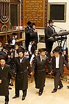 Israel, Bnei Brak. The Synagogue of the Premishlan congregation, Simchat Torah (on the eights day of Succot)<br />