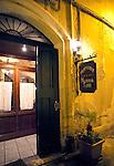 Restaurant entrance, Puglia, Italy