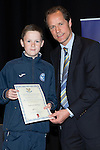 St Johnstone FC Youth Academy Presentation Night at Perth Concert Hall..21.04.14<br /> Alec Cleland presents to Duncan McPhee<br /> Picture by Graeme Hart.<br /> Copyright Perthshire Picture Agency<br /> Tel: 01738 623350  Mobile: 07990 594431