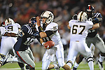 Vanderbilt quarterback Jordan Rodgers (11) is sacked by Ole Miss defensive end C.J. Johnson (10) at Vaught-Hemingway Stadium in Oxford, Miss. on Saturday, November 10, 2012. (AP Photo/Oxford Eagle, Bruce Newman)