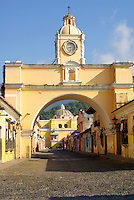 The Arco de Santa Catarina or Arch of Saint Catherine in Antigua, Guatemala. Antigua is a UNESCO World heritage site....