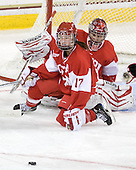 Catherine Ward (BU - 17), Kerrin Sperry (BU - 1) - The visiting Boston University Terriers defeated the Boston College Eagles 1-0 on Sunday, November 21, 2010, at Conte Forum in Chestnut Hill, Massachusetts.
