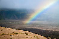 rainbow over Kilauea Caldera, Hawaii Volcanoes National Park, Kilauea, Big Island, Hawaii, USA