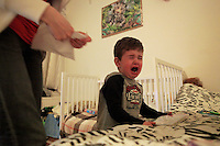 Lucina tries to feed David.He refuses to eat the majority of the cafeteria food and mealtime between them is a constant struggle. He only likes candy, lunch meat, white bread and potatoes that she fries on the stove.<br /> <br /> She receives no money from the Danish government and gets all of her food from the camp cafeteria.