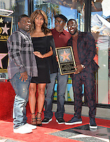 LOS ANGELES, CA. October 10, 2016: Kevin Hart (right) with brother Robert Hart, father Henry Witherspoon &amp; actress Halle Berry at the Hollywood Walk of Fame Star Ceremony honoring comedian Kevin Hart.<br /> Picture: Paul Smith/Featureflash/SilverHub 0208 004 5359/ 07711 972644 Editors@silverhubmedia.com