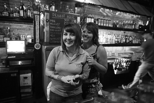Lindsay and Tiffany at The Hummingbird Stage and Taproom in Macon, Ga. Aug. 29, 2010.