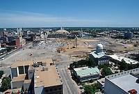 1997 June 05..Redevelopment..Macarthur Center.Downtown North (R-8)..LOOKING NORTH.FROM MAIN STREET TOWER..NEG#.NRHA#..