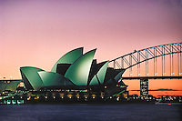Australia, Sydney, Opera House & Harbour Bridge