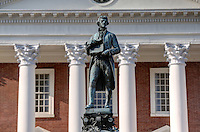 The Thomas Jefferson historical statue located on grounds at the University of Virginia in Charlottesville, Va. Photo/Andrew Shurtleff
