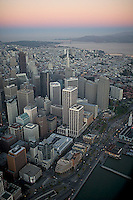 aerial photograph north waterfront dawn San Francisco, California