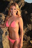 Stock photo Woman in bikini at a Southern California beach