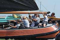 ZEILEN: STAVOREN: IJsselmeer, 26-07-2014, SKS skûtsjesilen, winnaar Drachten, skûtsje Twee Gebroeders, schipper Jeroen Pietersma, adviseur Harmen Brouwer, ©Martin de Jong