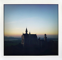 "Schloss Neuschwanstein, Germany..from the series ""Fake Polaroids""...."