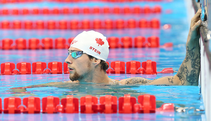 Rio de Janeiro-6/9/2016-Canadian swimmer Nathan Stein trains at the Olympic Aquatics Stadium prior to the Paralympic Games in Rio. Photo Scott Grant/Canadian Paralympic Committee